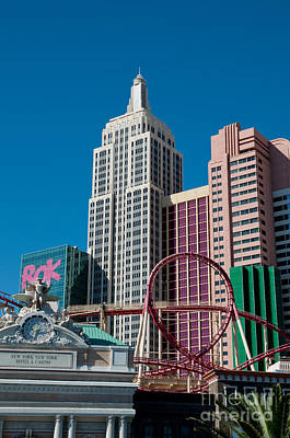 Rollercoaster Photograph - New York New York Hotel by Andy Smy