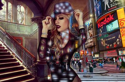 Mixed Media - I Love New York by Marvin Blaine