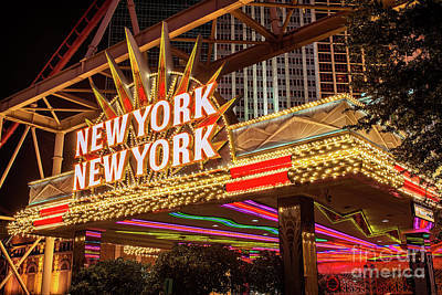 Photograph - New York New York Neon Sign Entrance by Aloha Art