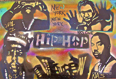 Moral Painting - New York New York by Tony B Conscious