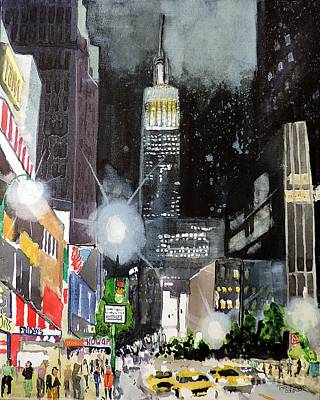 Painting - New York Night by Tom Riggs