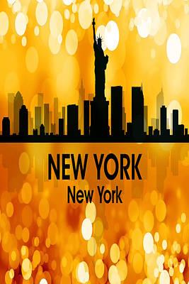 Ny Skyline Mixed Media - New York Ny 3 Vertical by Angelina Vick