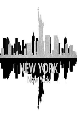 Ny Skyline Mixed Media - New York Ny 4 Vertical by Angelina Vick