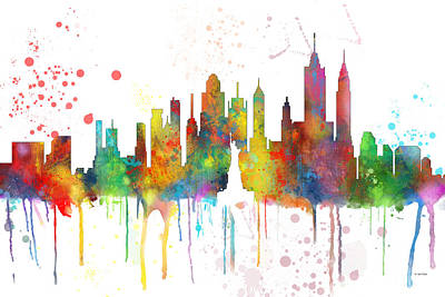 New York Ny Skyline Art Print