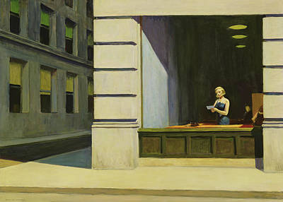 Edward Painting - New York Office, 1962 by Edward Hopper