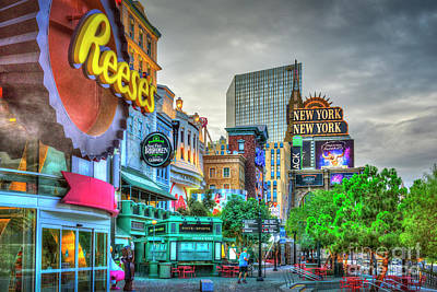 Photograph - New York On Las Vegas Blvd. by David Zanzinger