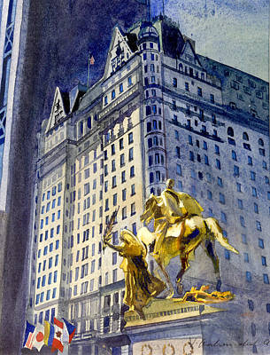 Painting - New York  Plaza Hotel by Vladimir Kozma