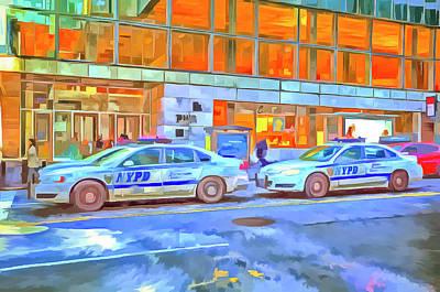 Photograph - New York Police Department Pop Art by David Pyatt