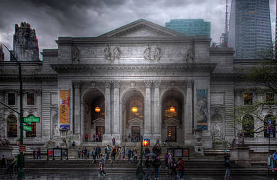 Photograph - New York Public Library by Mark Andrew Thomas