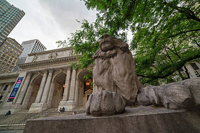 Photograph - New York Public Library New York Ny Fifth Ave by Toby McGuire