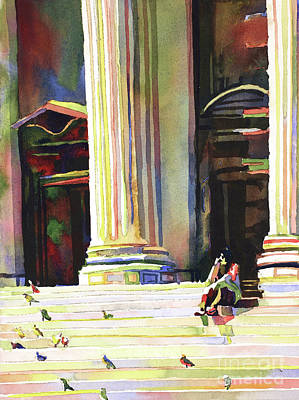 Painting - New York Public Library by Ryan Fox