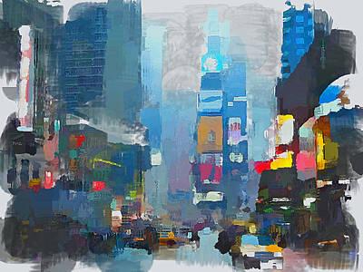 Digital Art - New York Rainy Day by Yury Malkov
