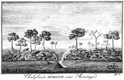 Drawing - New York, Saratoga, 1787 by James Trenchard