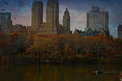 Rowboat Digital Art - New York Series - The Dakota by Jeff Burgess