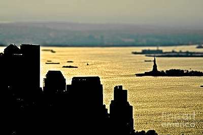 New York Silhouette Art Print by Alessandro Giorgi Art Photography