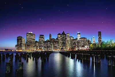 Cities Photograph - New York Sky Line by Nanouk El Gamal - Wijchers