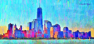 Hudson Digital Art - New York Skyline 1001 - Da by Leonardo Digenio