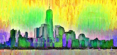 New York Skyline 5 - Da Art Print by Leonardo Digenio