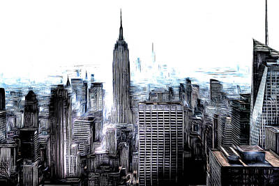 Photograph - New York Skyline Art by David Pyatt