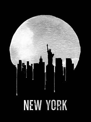 Skyscraper Digital Art - New York Skyline Black by Naxart Studio