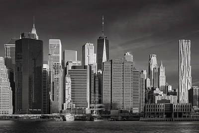Photograph - New York Skyline Infrared by Jerry Fornarotto