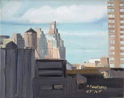 Wall Art - Painting - New York Skyline by Katherine Farrell