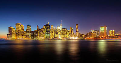 New York Skyline Print by Marvin Spates