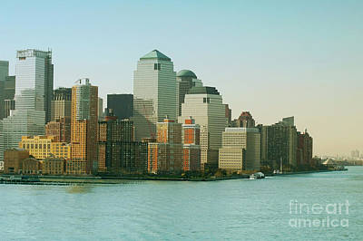 Architecture Photograph - New York Skyline. New York City With Manhattan Skyline. by Dani Prints and Images