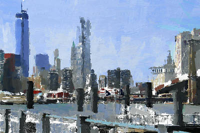 Digital Art - New York Skyline Painting 2 by Yury Malkov