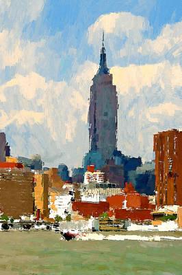 Digital Art - New York Skyline Painting 3 by Yury Malkov