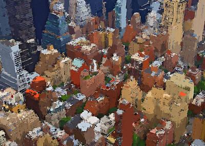 Digital Art - New York Skyline Painting 5 by Yury Malkov