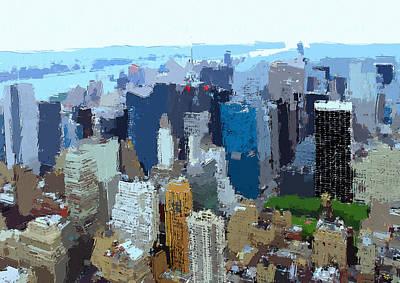 Digital Art - New York Skyline Painting 6 by Yury Malkov