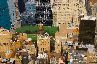 Digital Art - New York Skyline Painting 7 by Yury Malkov