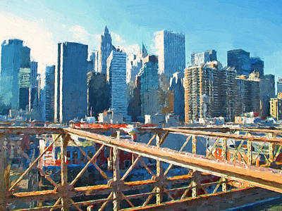 Digital Art - New York Skyline Painting 8 by Yury Malkov