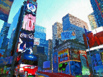 Digital Art - New York Skyline Painting 9 by Yury Malkov
