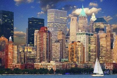 Painting - New York Skyline by Sarah Kirk
