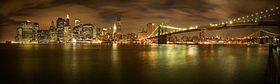 Brooklyn Bridge Photograph - New York Skyline by Shubhra Pandit