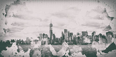 Cities Royalty-Free and Rights-Managed Images - New York Splatter by Martin Newman