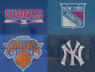 Mixed Media - New York Sports Teams by Dan Sproul