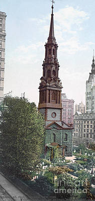 Photograph - New York, St. Paul's Church, C1901. by Granger