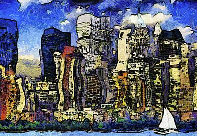 New York Stary Night Expressionism Art Print