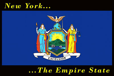 Painting - New York State Flag by Floyd Snyder