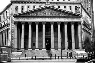 New York State Supreme Court Art Print by John Rizzuto