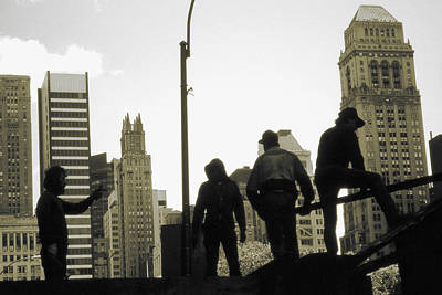 Photograph - Old New York Photo - Manhattan Steelworkers by Peter Potter