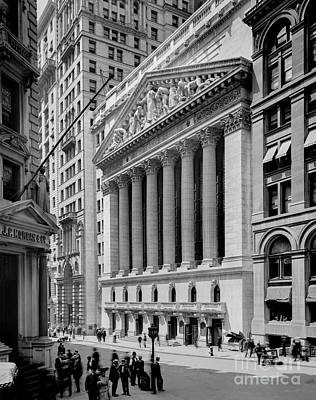 Twin Towers Photograph - New York Stock Exchange Circa 1904 by Jon Neidert