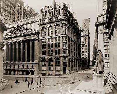New York Stock Exchange Left Art Print by Everett