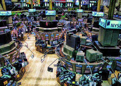 Painting - New York Stock Exchange Trading Floor by Christopher Arndt