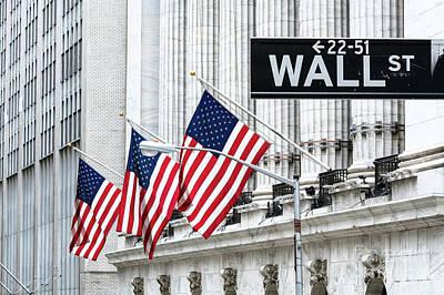 Photograph - New York Stock Exchange, Wall Street, New York, Usa by Matteo Colombo