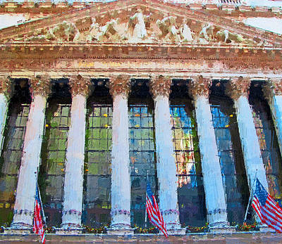 Digital Art - New York Stock Exchange by Yury Malkov