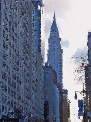 Digital Art - New York Streets 28 by Yury Malkov